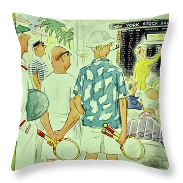 New Yorker February 9 1957 Throw Pillow