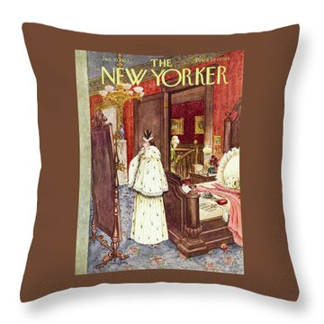 New Yorker January 10 1953 Throw Pillow
