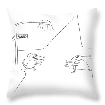New Yorker January 12th 1976 Throw Pillow