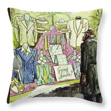 New Yorker January 18 1941 Throw Pillow