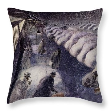 New Yorker January 19 1952 Throw Pillow