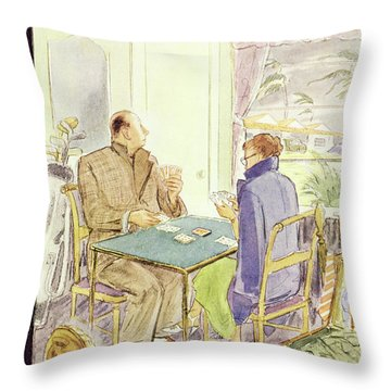 New Yorker January 23 1954 Throw Pillow