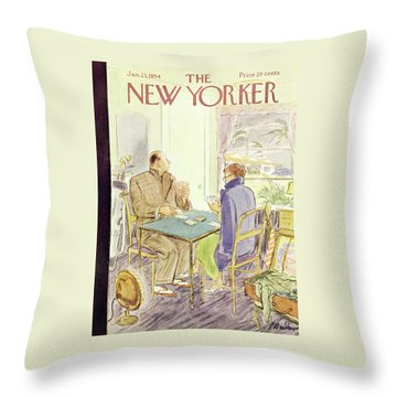 New Yorker January 23 1954 Throw Pillow