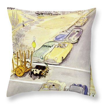 New Yorker January 27 1951 Throw Pillow