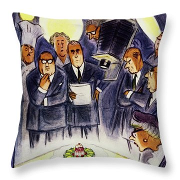New Yorker January 29 1955 Throw Pillow