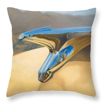 Throw Pillow featuring the painting New Yorker by Joe Winkler