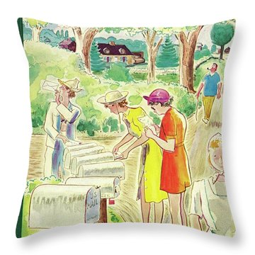 New Yorker July 12 1941 Throw Pillow