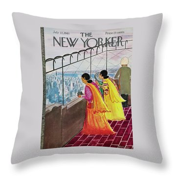 New Yorker July 22 1961 Throw Pillow