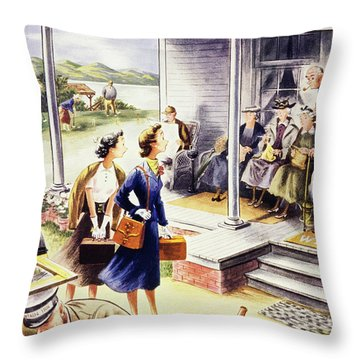 New Yorker July 24 1954 Throw Pillow