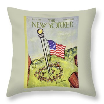 New Yorker July 5 1958 Throw Pillow