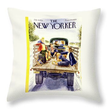 New Yorker July 8 1950 Throw Pillow