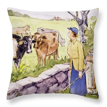 New Yorker June 11 1955 Throw Pillow