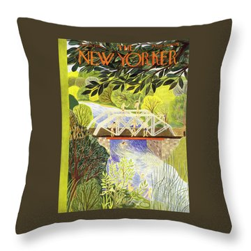 New Yorker June 17 1950 Throw Pillow