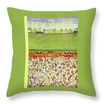 New Yorker June 9 1956 Throw Pillow