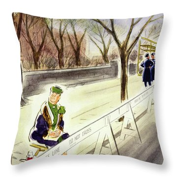New Yorker March 18 1950 Throw Pillow