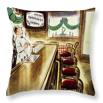 New Yorker March 19, 1955 Throw Pillow