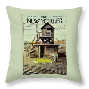 New Yorker March 26 1960 Throw Pillow