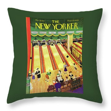 New Yorker March 29 1941 Throw Pillow