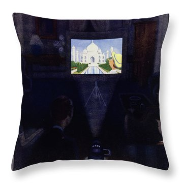 New Yorker March 3, 1955 Throw Pillow