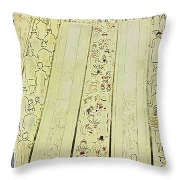 New Yorker March 8 1958 Throw Pillow