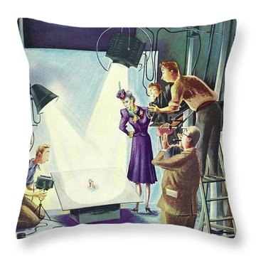 New Yorker May 10 1941 Throw Pillow
