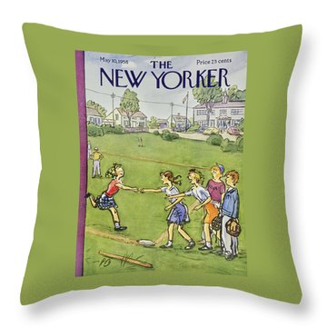 New Yorker May 10 1958 Throw Pillow