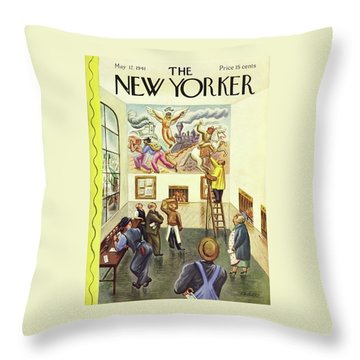 New Yorker May 17 1941 Throw Pillow