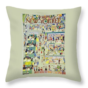 New Yorker May 18th 1957 Throw Pillow