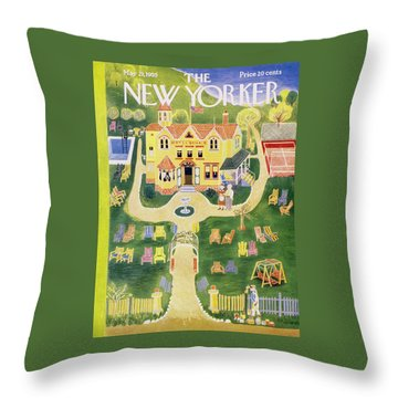 New Yorker May 21 1955 Throw Pillow