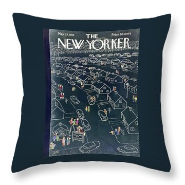 New Yorker May 23 1953 Throw Pillow