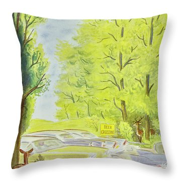New Yorker May 23 1959 Throw Pillow