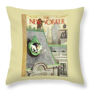 New Yorker May 24 1941 Throw Pillow