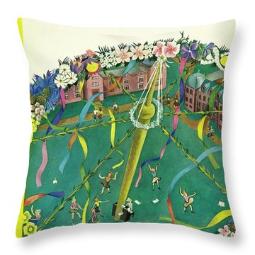 New Yorker May 3 1941 Throw Pillow