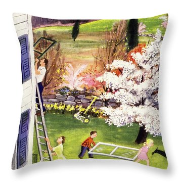 New Yorker May 6 1950 Throw Pillow
