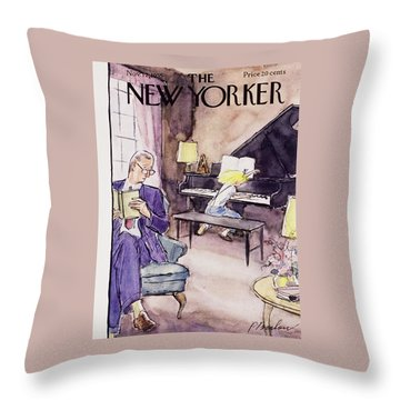 New Yorker November 12 1955 Throw Pillow