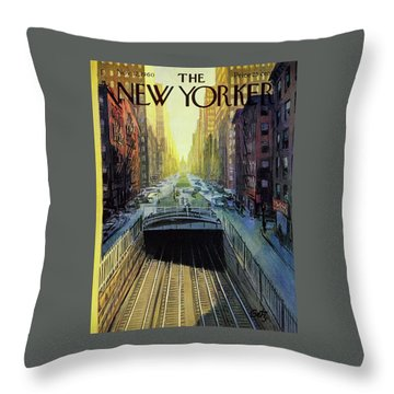 New Yorker November 12 1960 Throw Pillow