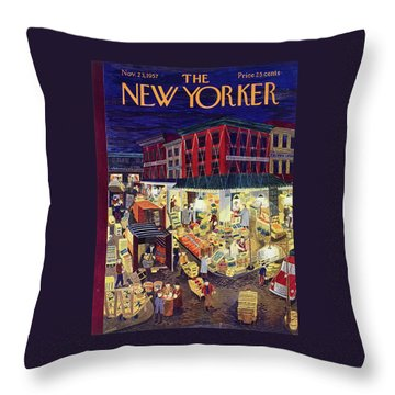 New Yorker November 23 1957 Throw Pillow