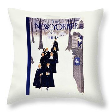 New Yorker November 27 1954 Throw Pillow