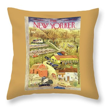 New Yorker November 28 1953 Throw Pillow