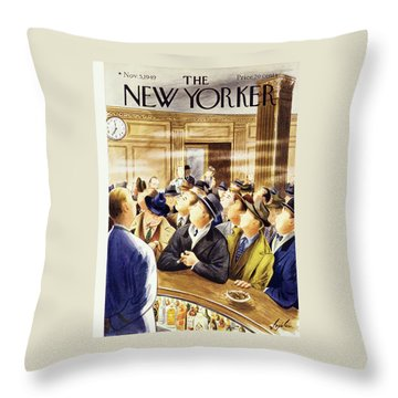 New Yorker November 5 1949 Throw Pillow