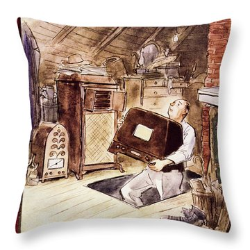 New Yorker October 22 1955 Throw Pillow