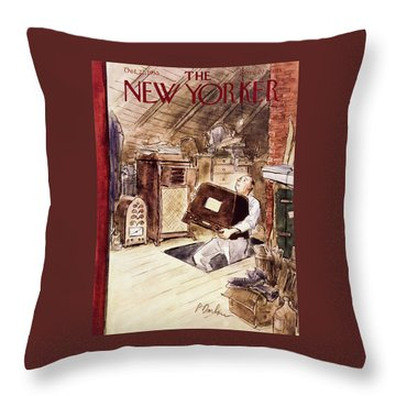 New Yorker October 22 1955 Throw Pillow