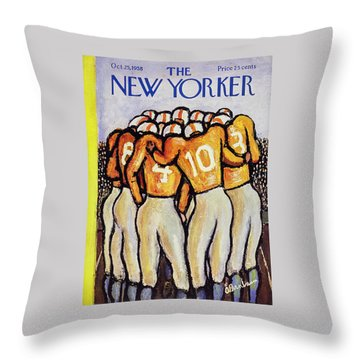 New Yorker October 25 1958 Throw Pillow