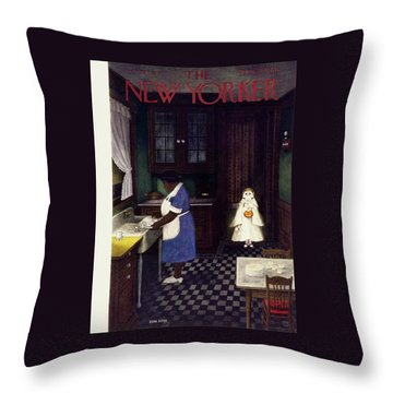 New Yorker October 28 1950 Throw Pillow