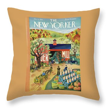 New Yorker October 4 1941 Throw Pillow