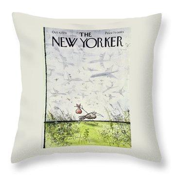 New Yorker October 4 1976 Throw Pillow