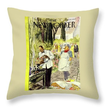 New Yorker September 16 1950 Throw Pillow