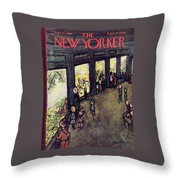 New Yorker September 27 1958 Throw Pillow