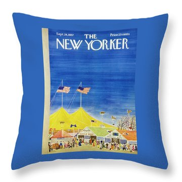 New Yorker September 28 1957 Throw Pillow