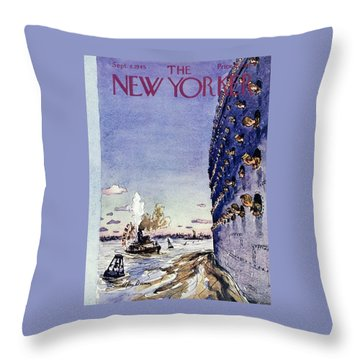 New Yorker September 8 1945 Throw Pillow